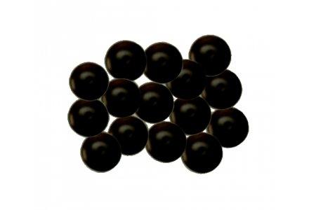 Afdekkapjes met steel (12 mm doorsnee) zwart 100 stuks