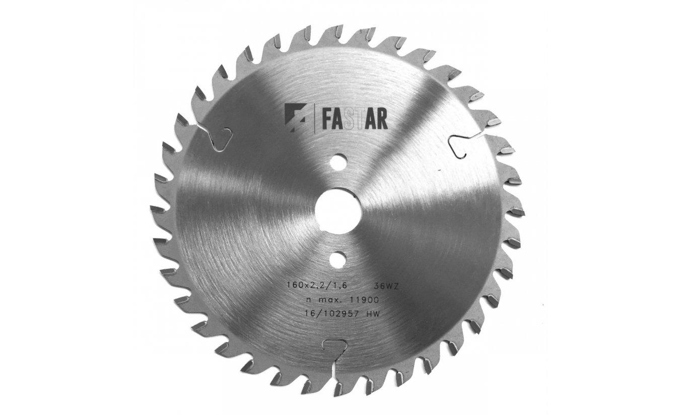 Fastar HM cirkelzaagblad 160x20x36 2,2/1,6 WZ