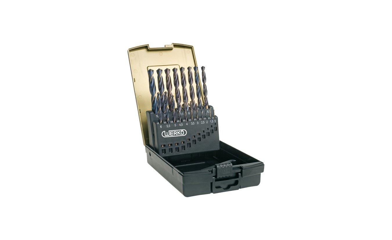 19 delige metaalboren cassette HSS ''Precise'' 1x1,0 t/m 10,0x0,5mm - Werkö