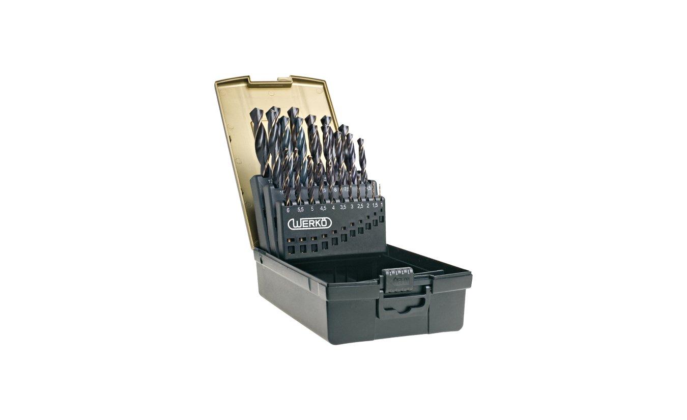 25 delige metaalboren cassette HSS ''Precise'' 1x1,0 t/m 13,0x0,5mm - Werkö