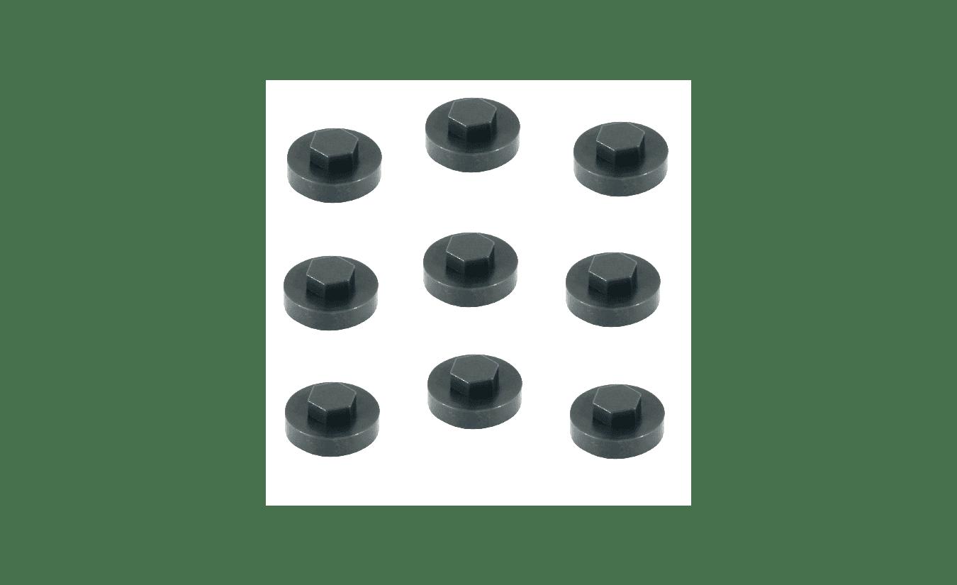 Afdekkapjes antraciet ral 7016 voor zeskantschroeven 3/8