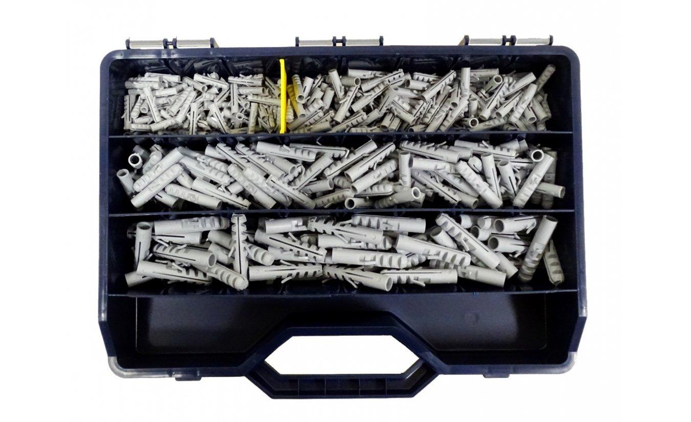 Nylon pluggen assortiment in koffer 350 delig