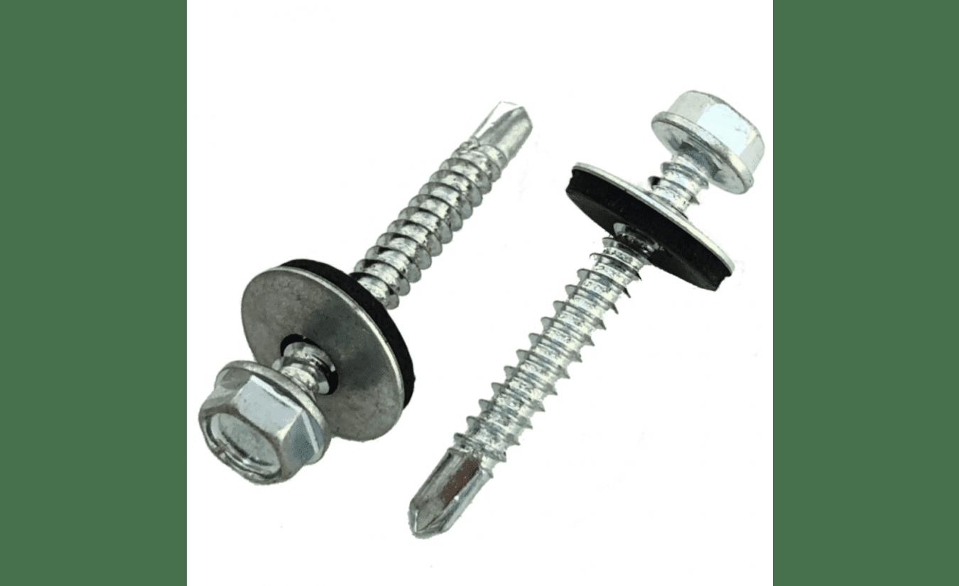 Zelfborende schroeven met EPDM ring verzinkt 6,3x180 - 100 stuks