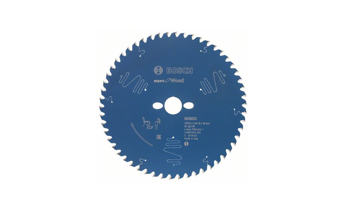 Bosch cirkelzaagblad 254x30x54 T Expert for Wood
