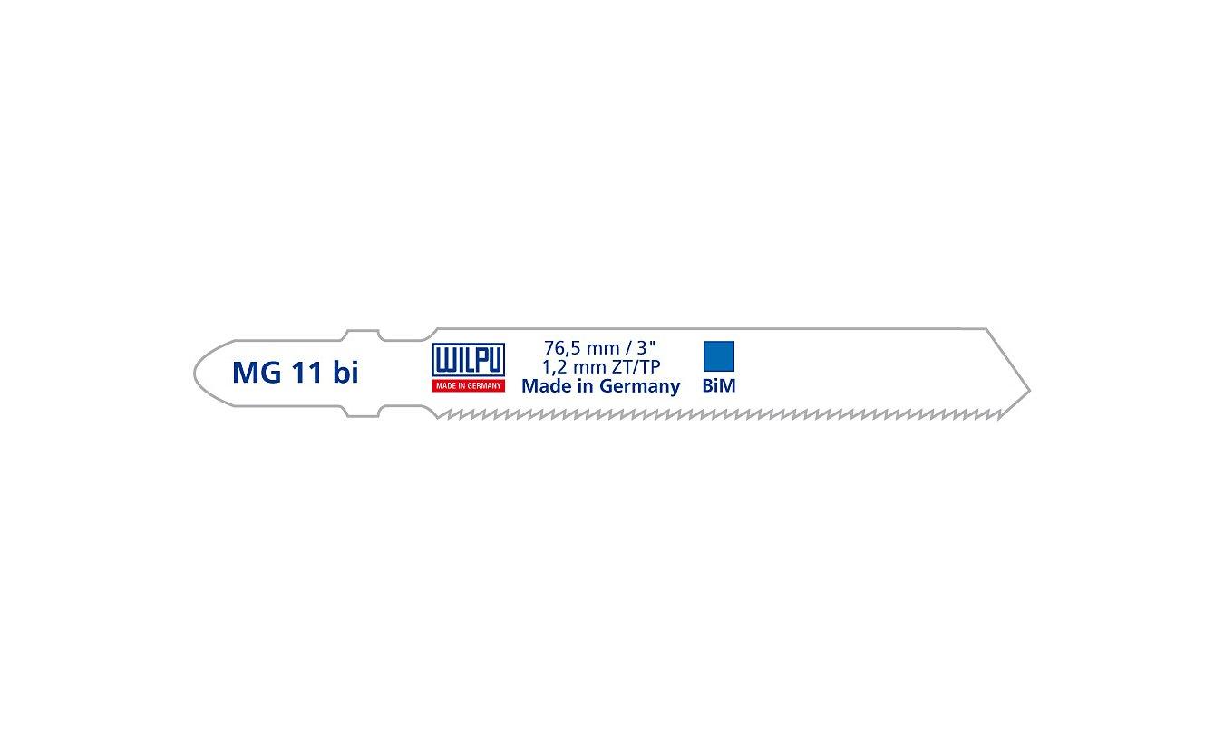 Decoupeerzagen Wilpu MG 11 bi voor bochten in dun metaal en rvs (1,2 tot 2mm)