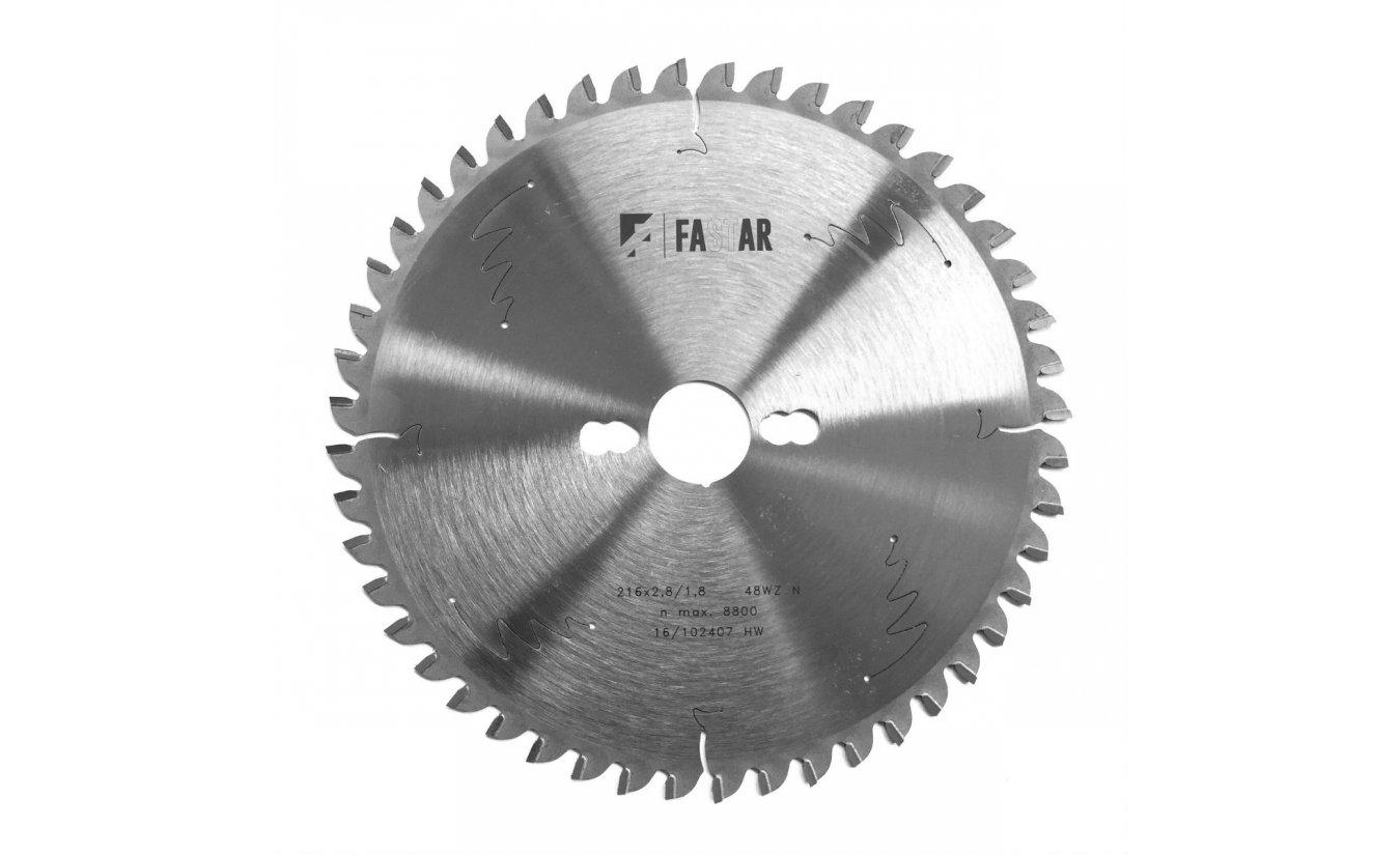 Fastar HM cirkelzaagblad 216x30x48 2.8/1.8 wisseltand negatief