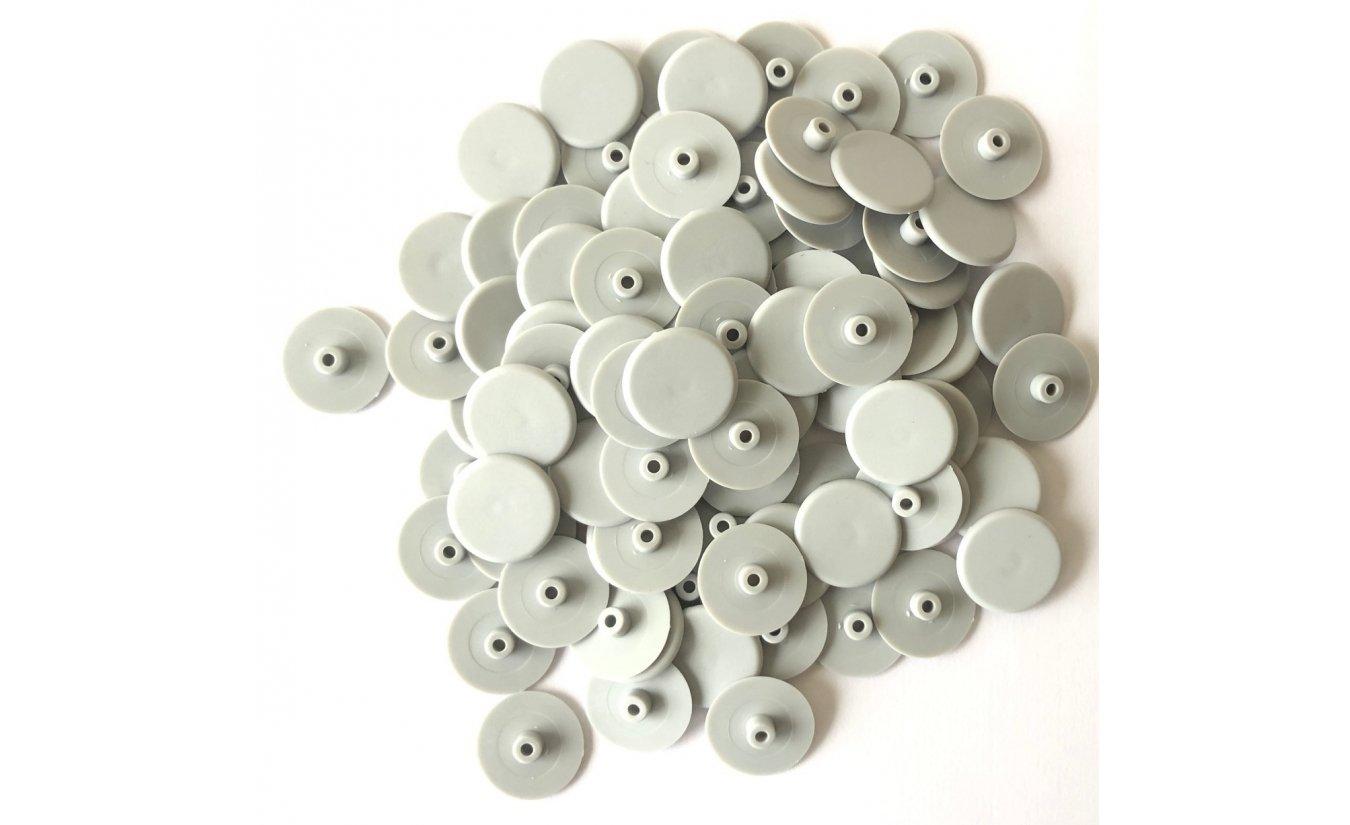 Afdekkapjes grijs voor kozijnschroeven torx 30  - 100 stuks
