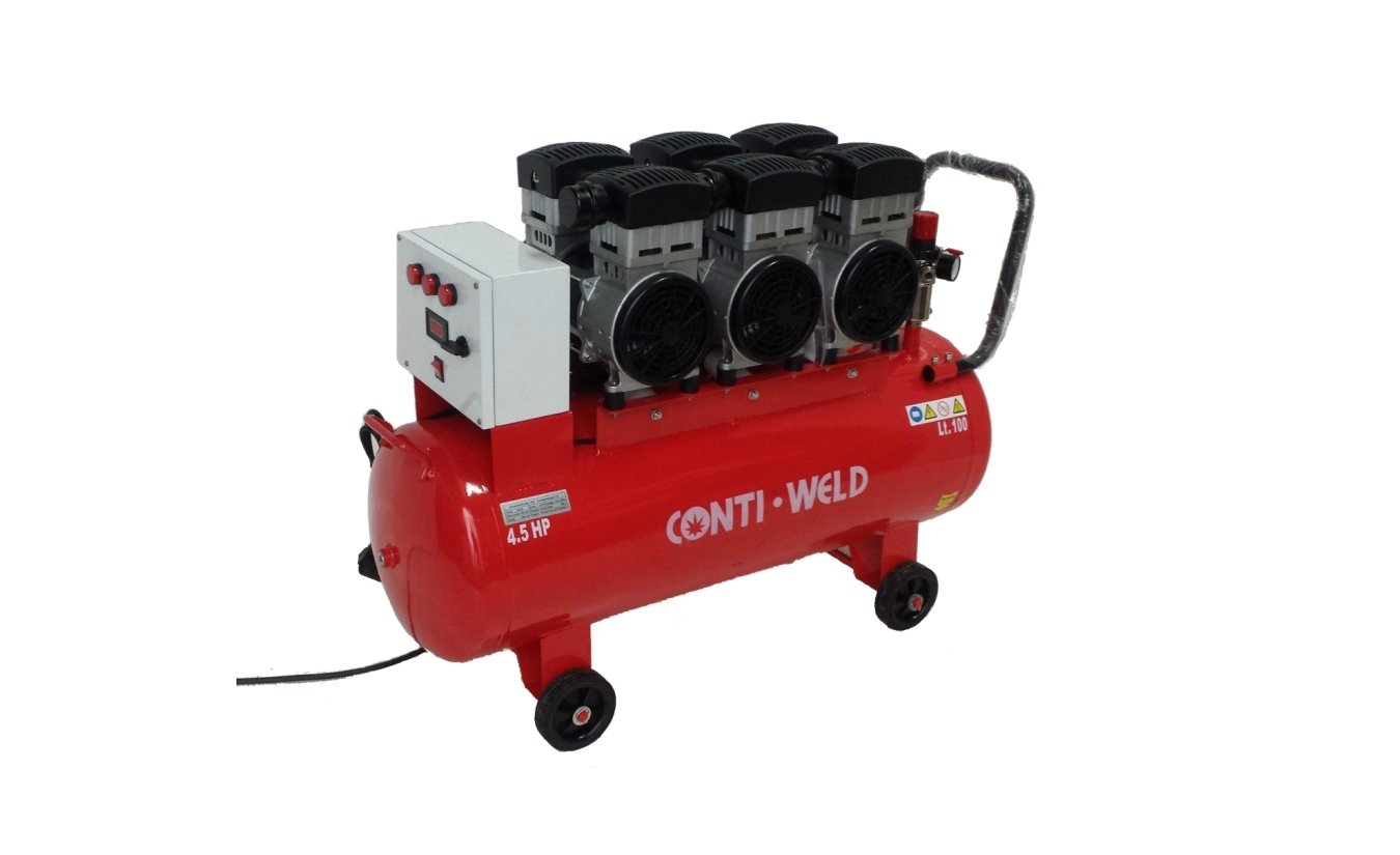 Conti-Weld olievrije geluidsarme compressor LBWM 100 liter 8 bar