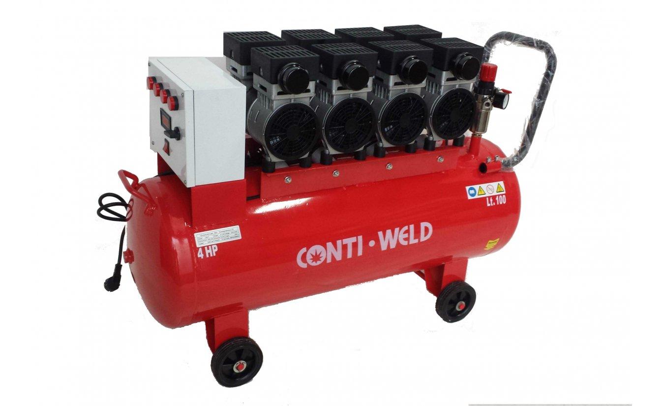 Conti-Weld olievrije geluidsarme compressor LBWT 100 liter 8 bar
