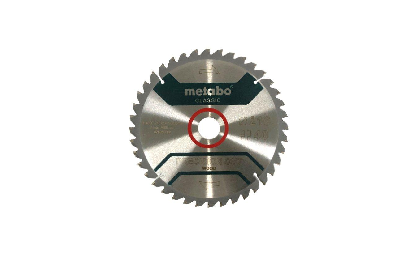 Metabo precision cut classic cirkelzaagblad 216x30x40