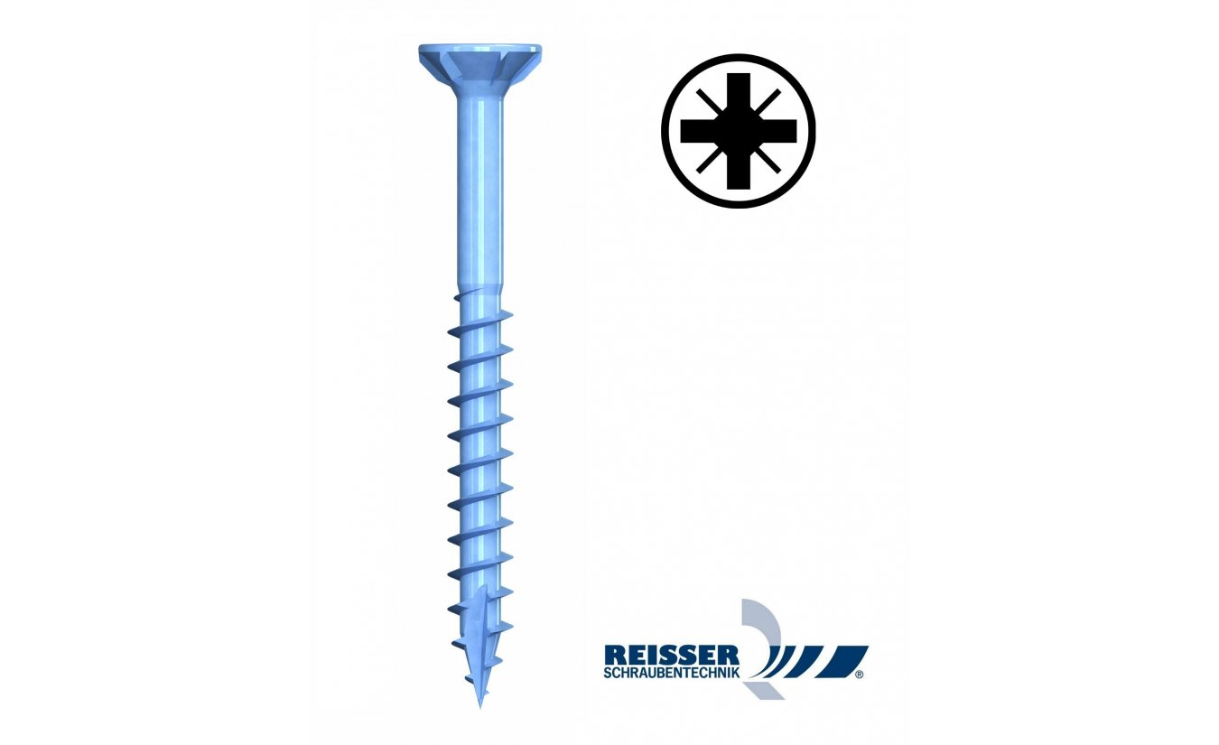 Reisser R2 3,5x30 spaanplaatschroeven pozidrive deeldraad 1000 stuks