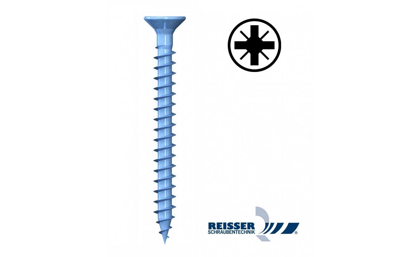 Reisser R2 3x12 spaanplaatschroeven pozidrive voldraad 1000 stuks