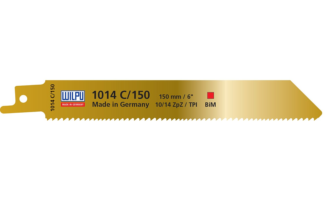 Reciprozaagbladen, 1014C/150, Wilpu. Voor alle houtsoorten met metaal(-resten)