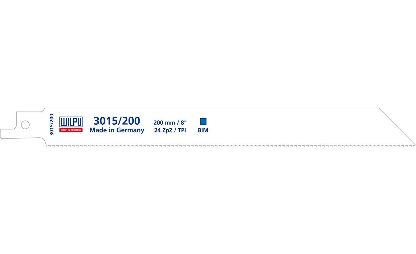 Reciprozaagbladen, 3015/200, Wilpu. Voor blik tot 1,2mm