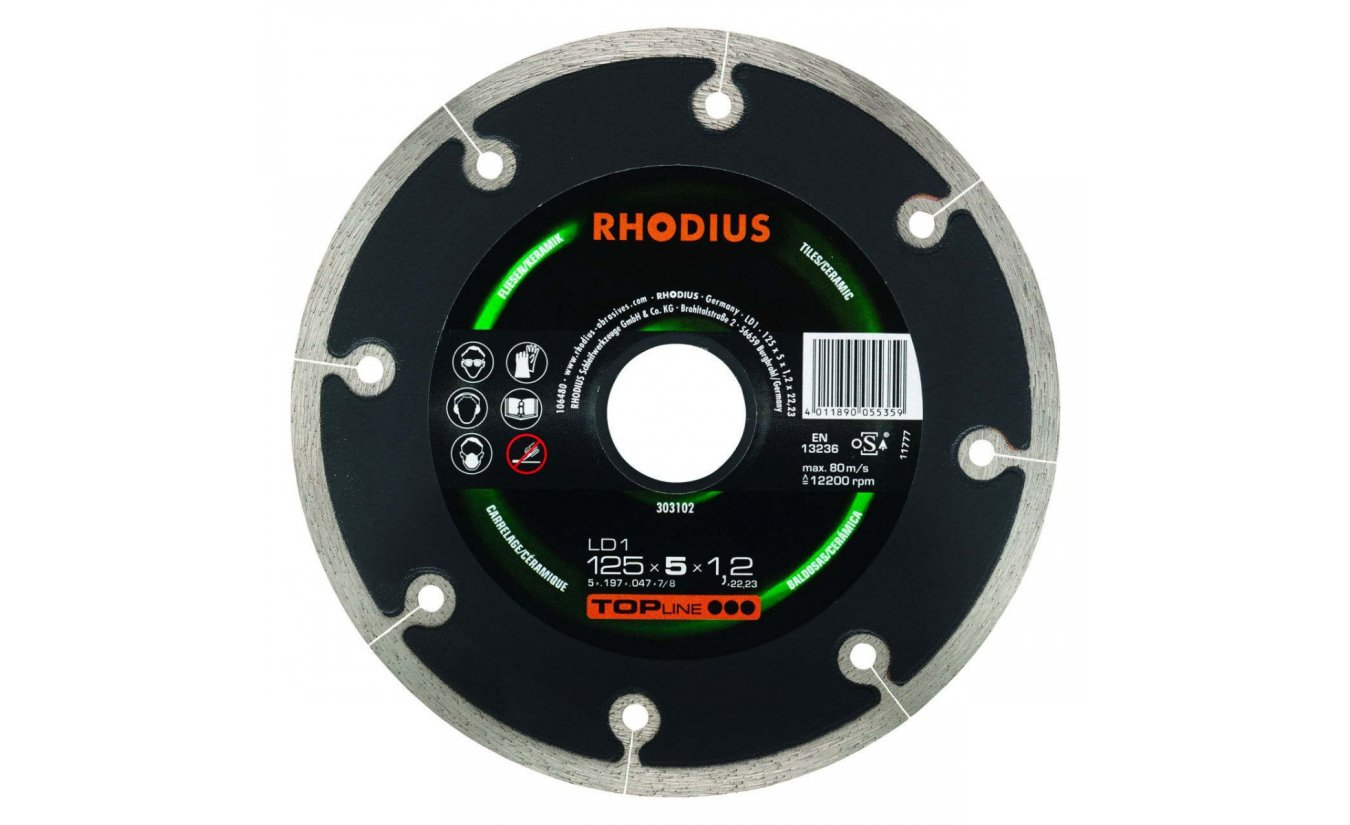 Rhodius LD1 diamantzaagblad 125mm extra dun