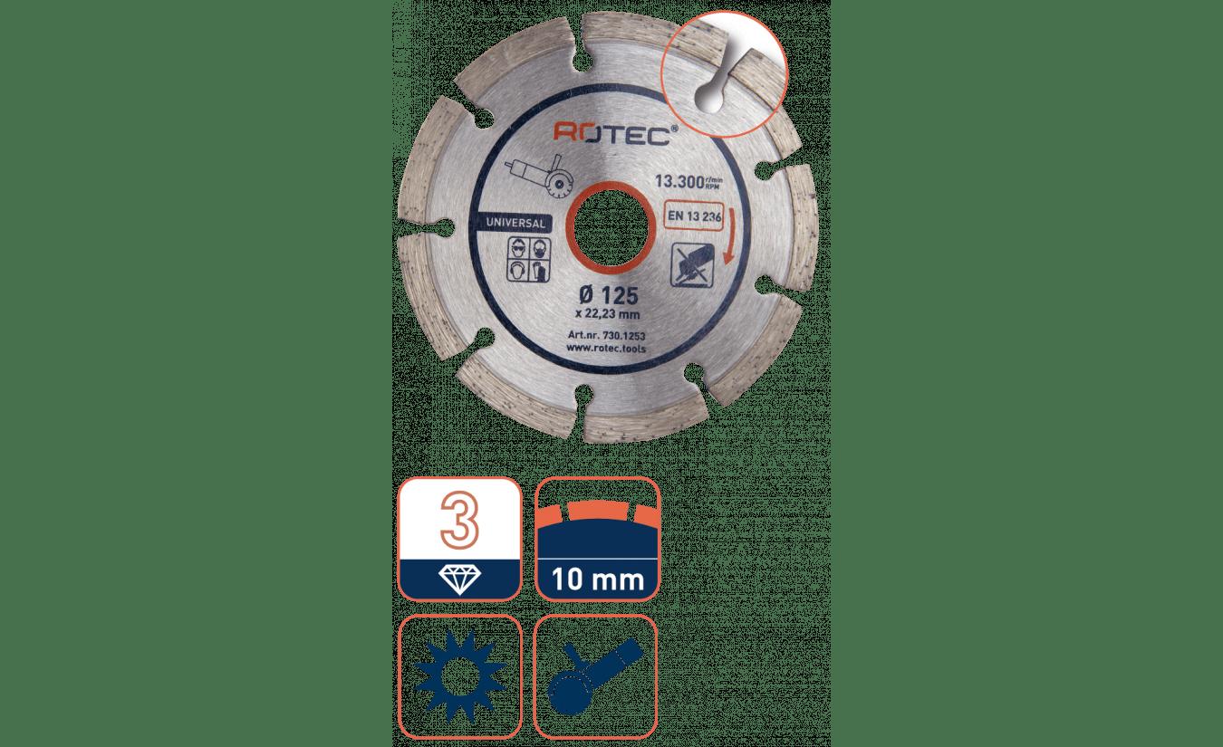 Rotec diamantzaag universeel - 230mm