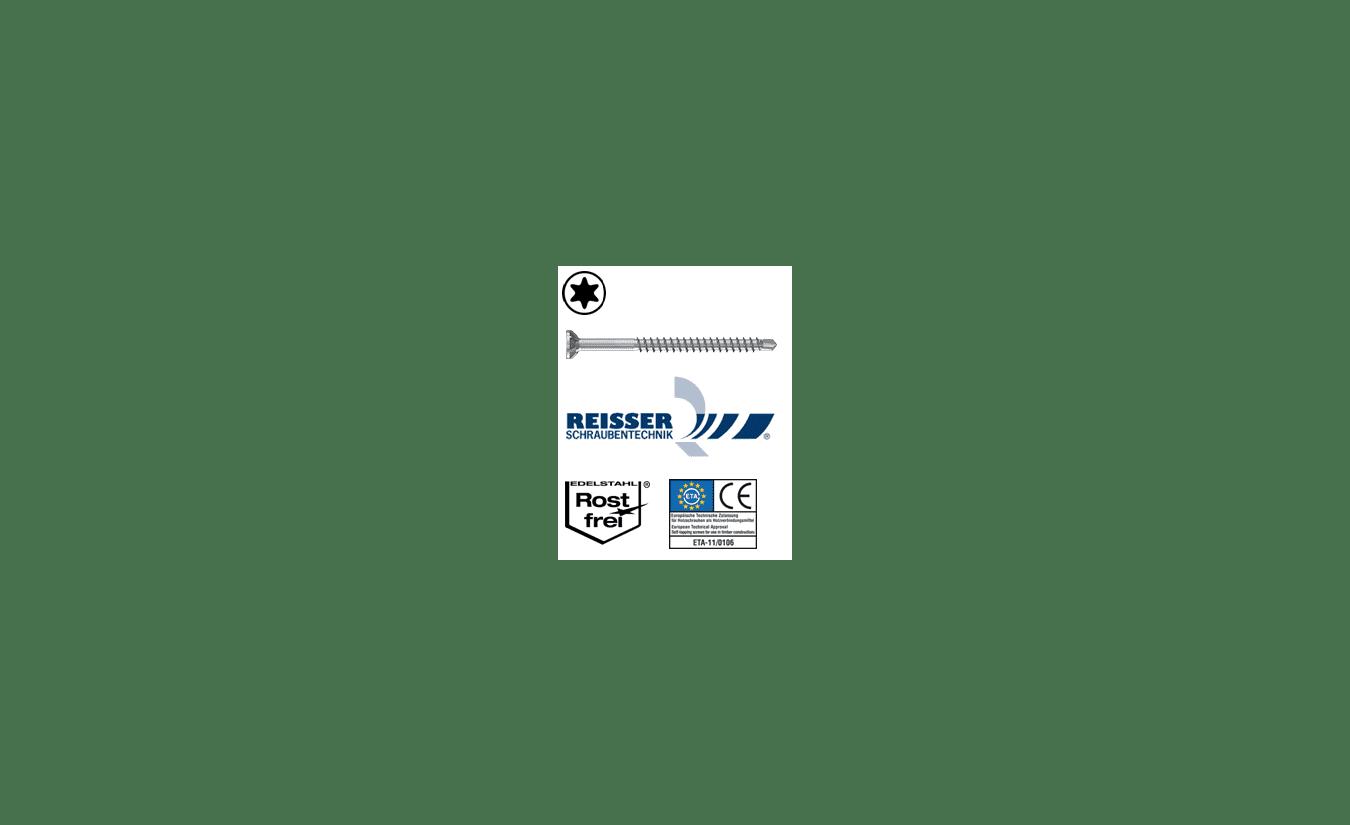 Reisser Sparibo boorschroeven RVS A2 6x80 100 stuks