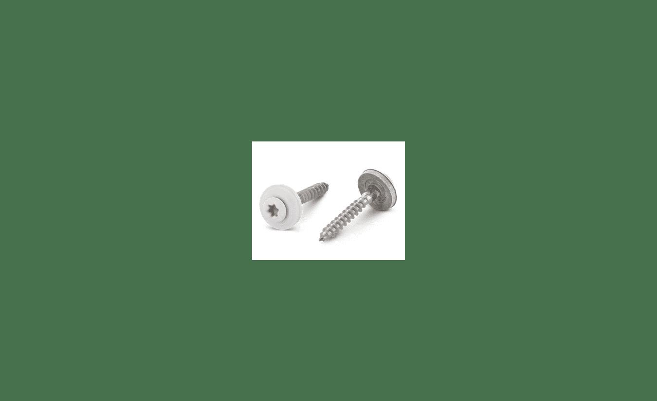 Spenglerschroeven 4,5x35 RVS A2 torx 100 stuks RAL 9010