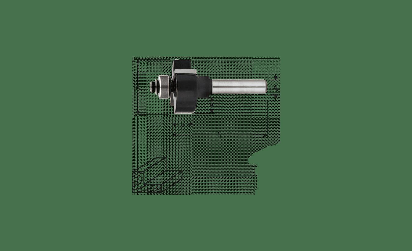 HM Sponningfrees 28,7 x 12,7 mm met lager
